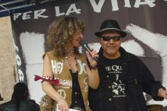 Con il blues man Giorgio Cavalli